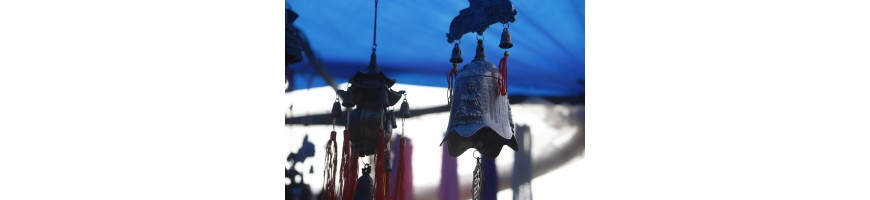 Carillons, fontaines, boules Feng Shui, crapauds de Fortune, Bouddha rieur...