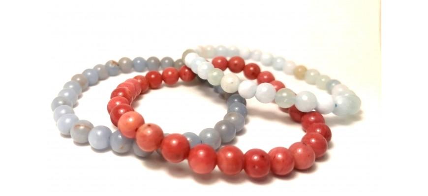 Bracelets perles 6 mm