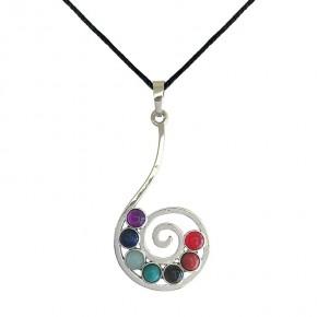 Pendentif 7 chakras - Spirale