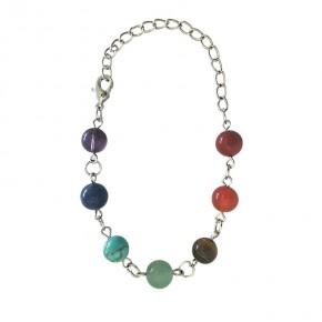 Bracelet 7 chakras - Métal
