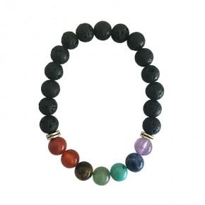 Bracelet 7 chakras - Pierre...