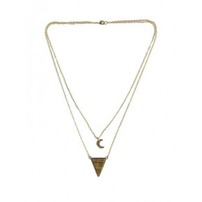 Collier triangle pierres...