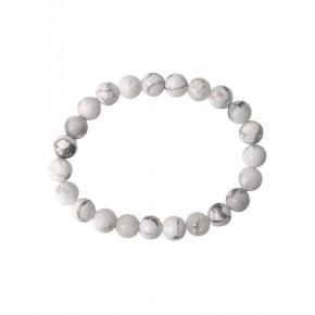 Bracelet 8 mm - Howlite...