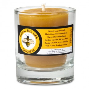 Bougie votive cire d'abeille