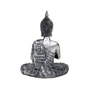 Bouddha bougeoir argenté