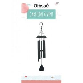 Carillon à vent Noir -  81 cm