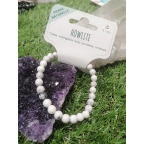 Bracelet 6 mm - Howlite