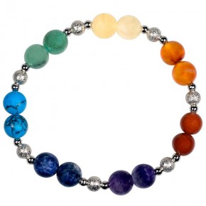 Bracelet 8 mm - 7 chakras -...
