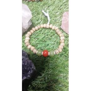 Bracelet en graines de lotus