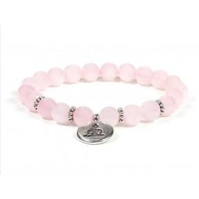 Bracelet mala - Quartz rose...