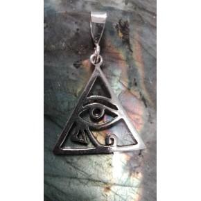 Pendentif argent  triangle-...