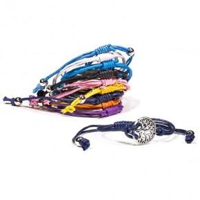 Bracelet métal / coton -...