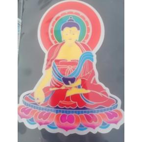 Autocollant fenêtre - Bouddha