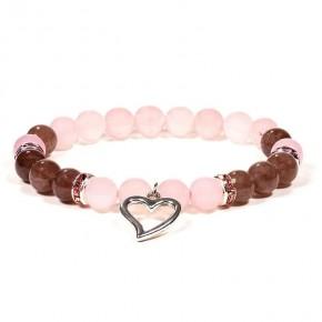 Bracelet - Quartz fraise /...