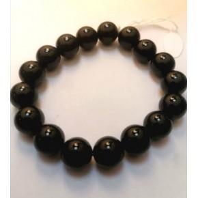 Bracelet 12 mm - Obsidienne...