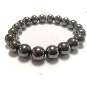 Bracelet 10 mm - Hématite