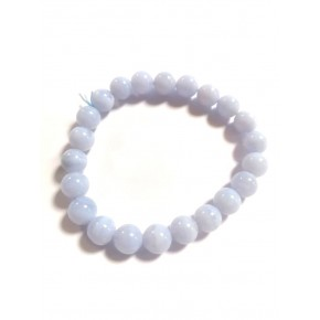 Bracelet 8 mm - Calcédoine