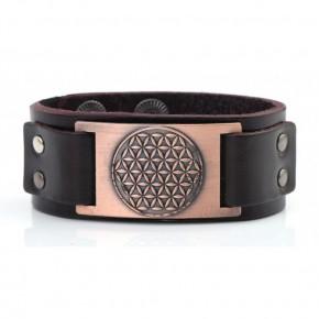 Bracelet cuir marron -...