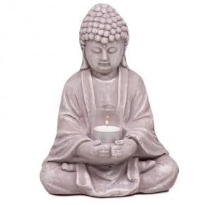 Bouddha avec un verre - ciment