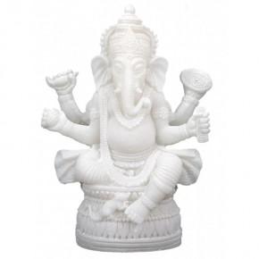 Statuette Ganesh - Albatre...