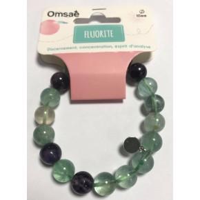Bracelet Fluorite- perle 10mm