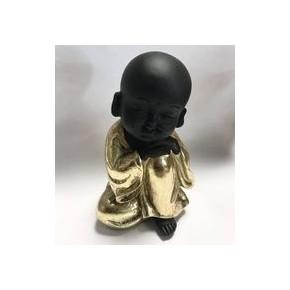 Petit Bouddha noir et doré...