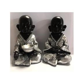 Bouddha Noir et argenté en...