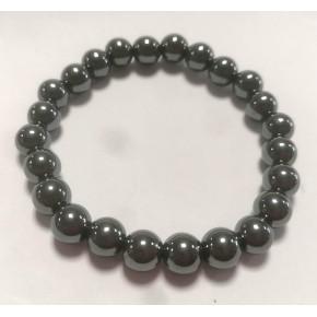 Bracelet 8 mm - Hématite