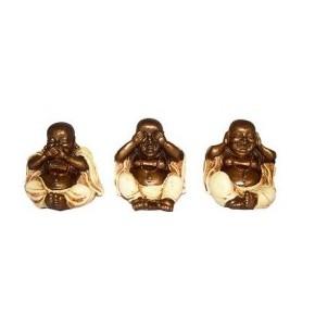 Trio bouddha rieur -...