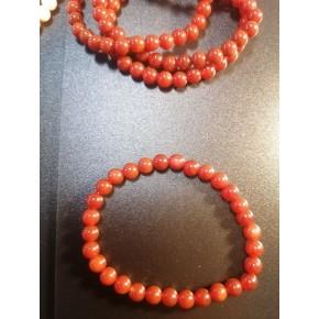 Bracelet 6 mm - Cornaline