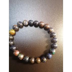 Bracelet 8 mm - Azurite /...