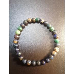 Bracelet 6 mm - Azurite /...