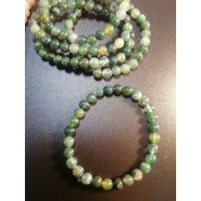 Bracelet 6 mm - Agate mousse
