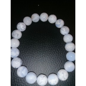 Bracelet 10 mm - Calcédoine
