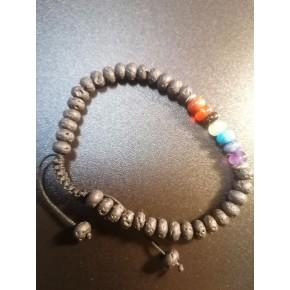Bracelet perles ovales -...